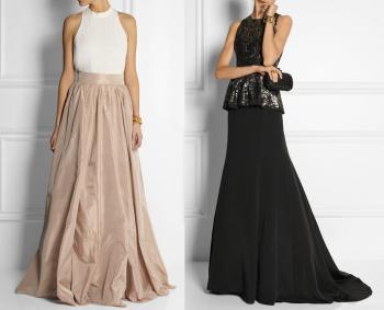 bbf9527f10c1 Jednofarebnú Maxi sukňu doplňte ihličkami na vysokom podpätku
