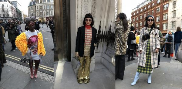Streetstyle z London Fashion Week 2018